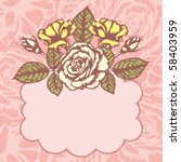 romantic floral background with ... | Shutterstock .eps vector #58403959