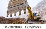 big yellow excavator | Shutterstock . vector #584054098