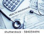 health insurance application...   Shutterstock . vector #584054494