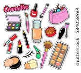 cosmetics beauty fashion makeup ... | Shutterstock .eps vector #584058964