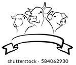 farm logo.  | Shutterstock .eps vector #584062930