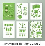 collection of banners for st.... | Shutterstock .eps vector #584065360