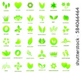 ecology icon set  on white... | Shutterstock . vector #584066464