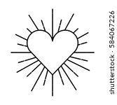 heart love sunburst icon | Shutterstock .eps vector #584067226