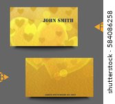 business card template with... | Shutterstock .eps vector #584086258