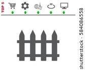 fence icon vector flat design...