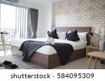 Stock photo bedroom hotel 584095309