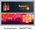 sale and discount website... | Shutterstock .eps vector #584097760