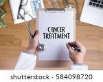 cancer treatment medicine ... | Shutterstock . vector #584098720