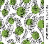 tropical trendy seamless... | Shutterstock .eps vector #584104459
