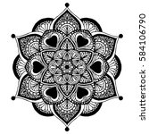 mandalas for coloring book.... | Shutterstock .eps vector #584106790