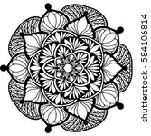 mandalas for coloring book.... | Shutterstock .eps vector #584106814