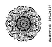 mandalas for coloring book.... | Shutterstock .eps vector #584106889