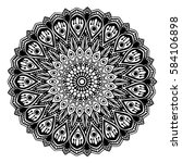 mandalas for coloring book.... | Shutterstock .eps vector #584106898