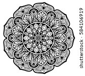 mandalas for coloring book.... | Shutterstock .eps vector #584106919