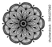 mandalas for coloring book.... | Shutterstock .eps vector #584107060