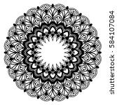 mandalas for coloring book.... | Shutterstock .eps vector #584107084