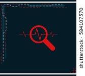heart monitor pulse line icon.