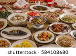 reunion dinner | Shutterstock . vector #584108680