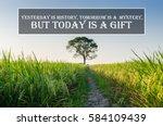inspirational motivating quote... | Shutterstock . vector #584109439