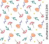 watercolor hand drawing pattern ...   Shutterstock . vector #584111344