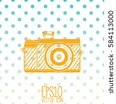 photo camera isolated vector... | Shutterstock .eps vector #584113000