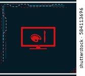 monitor design icon. | Shutterstock .eps vector #584113696