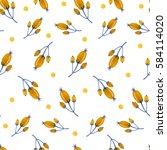 watercolor hand drawing pattern ... | Shutterstock . vector #584114020