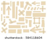 adhesive tapes. vector sticky... | Shutterstock .eps vector #584118604