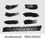 set of black paint  ink brush... | Shutterstock .eps vector #584124010