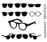 glasses icons. vector format | Shutterstock .eps vector #584125123