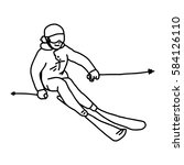 Mountain Skier   Vector...