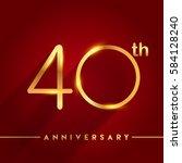celebrating of 40 years... | Shutterstock .eps vector #584128240