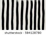black brush strokes lines on... | Shutterstock . vector #584128780