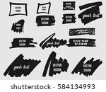 set of black grunge frames ... | Shutterstock .eps vector #584134993
