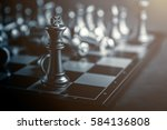 chess board game concept of... | Shutterstock . vector #584136808