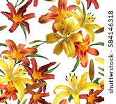 Vibrant Floral Pattern Blossom...