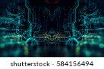 3d illustration. circuit board ... | Shutterstock . vector #584156494