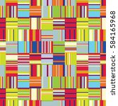 seamless pattern with... | Shutterstock .eps vector #584165968