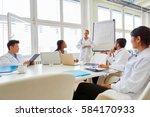 doctors in flipchart... | Shutterstock . vector #584170933