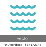 wave icon | Shutterstock .eps vector #584172148