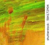 Orange Green Texture Paint....