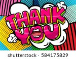 thank you word bubble. message... | Shutterstock .eps vector #584175829