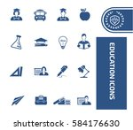 education icon set clean vector | Shutterstock .eps vector #584176630