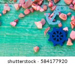 the composition of the marine ... | Shutterstock . vector #584177920