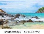 patok bay on koh racha yai in... | Shutterstock . vector #584184790