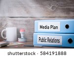 public relations and media plan.... | Shutterstock . vector #584191888