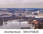 panorama of the cityscape of... | Shutterstock . vector #584193820