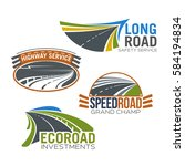 roads and highways vector icons.... | Shutterstock .eps vector #584194834