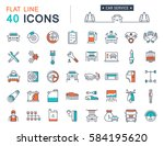set  line icons car service ...   Shutterstock . vector #584195620